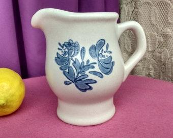 Pfaltzcraft Yorktowne Stoneware Blue Creamer Pitcher Replacement CeramicPottery Dinnerware 1980's
