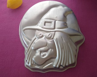 Wilton Wicked Witch Aluminum Cake Pan Mold 2105-4590 1990