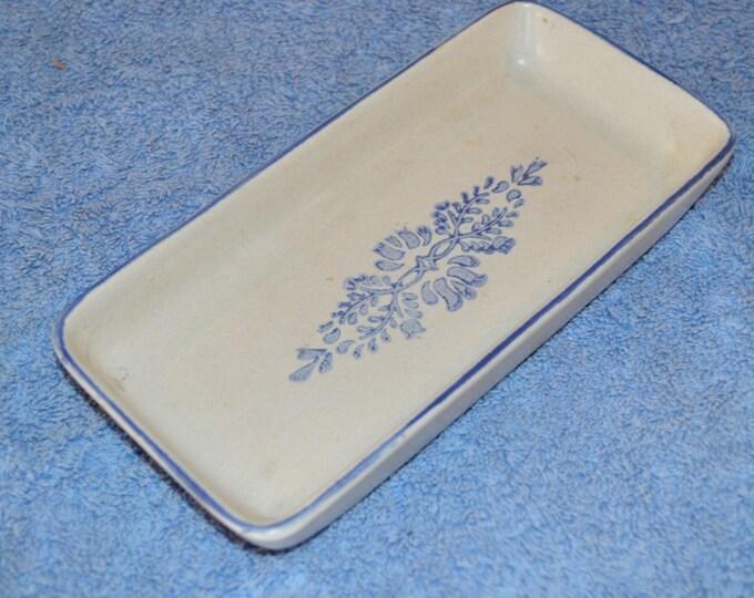 Pfaltzgraff Relish Dish Blue Stoneware