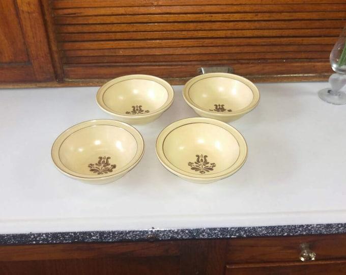Pfaltzgraff Village Tan Brown Stoneware Cereal Soup Salad Bowls Set of 4