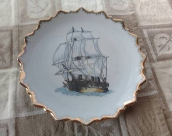 Vintage Nautical Clipper Ship Wall Plate