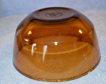 Fire King Anchor Hocking Vintage Amber Brown Glass Mixing Bowl