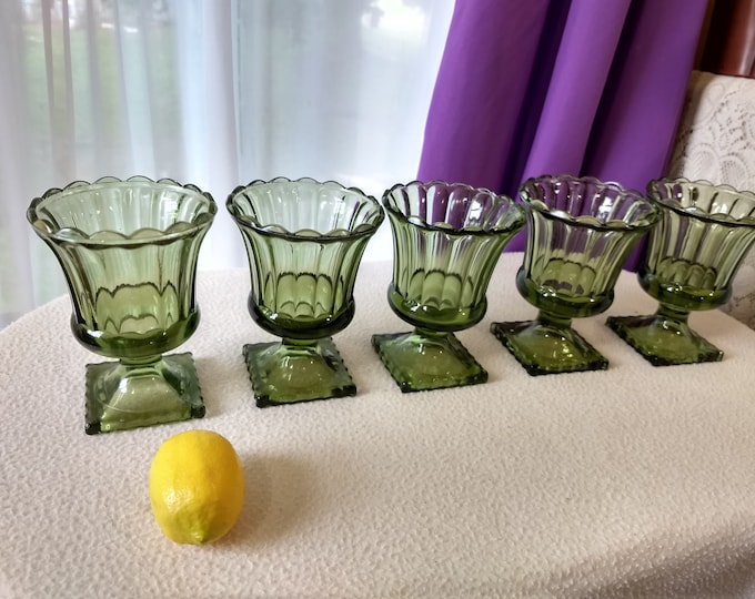 Set Of 6 Olive Green Footed Planters Do It Yourself Wedding Centerpiece Roman Greek Style Wedding Planners