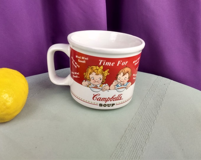 Campbell's Soup Mug Time For Campbell's Soup Boy And Girl  1998 HH