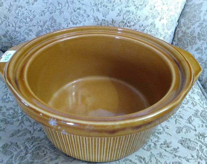 Vintage Rival Replacement Brown Ceramic Stoneware Ceramic  Slow Cooker Insert  Model # 3154