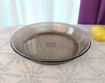 Pyrex Visions 209 Visionware Glass Pie Baking Dish 10 Inches Pie Plate Fireside Tawny Brown Visions