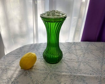 Hoosier Vase With Glass Frog Hoosier Glass  # 4 With Glass Frog Tulip Rose Iris Fresh Flower Bouquet