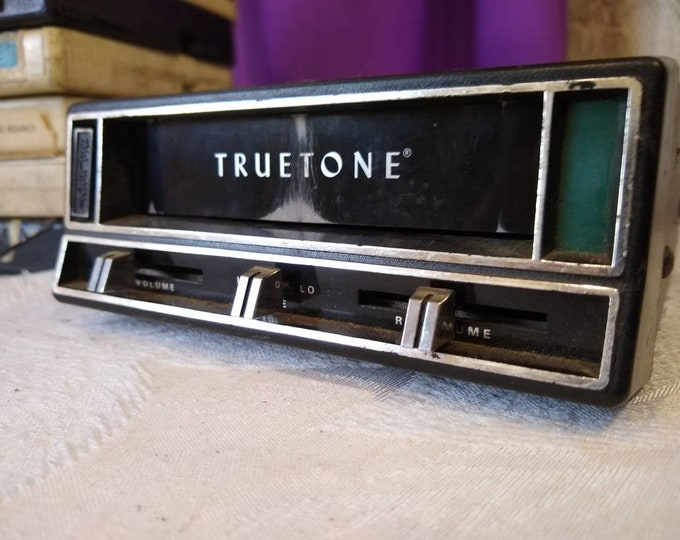 TrueTone 8 Track Player For muscle Car With 10 Additional 8 Track Tapes Tested And Works! Retro 70's RARE!