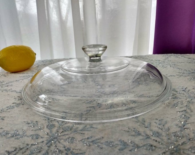 Pyrex 623 C Lid Small Knob 60s Casserole Dish Lid 7 Inch Round Mid Century Kitchen Visions Replacement Fits the 1.5 Qt Dish 1950's -60's