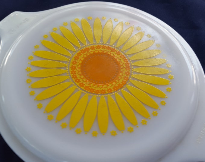 Vintage Corning Replacement Pyrex Sunburst Small Nesting Bowl Lid Cover 5 3/4 Inch