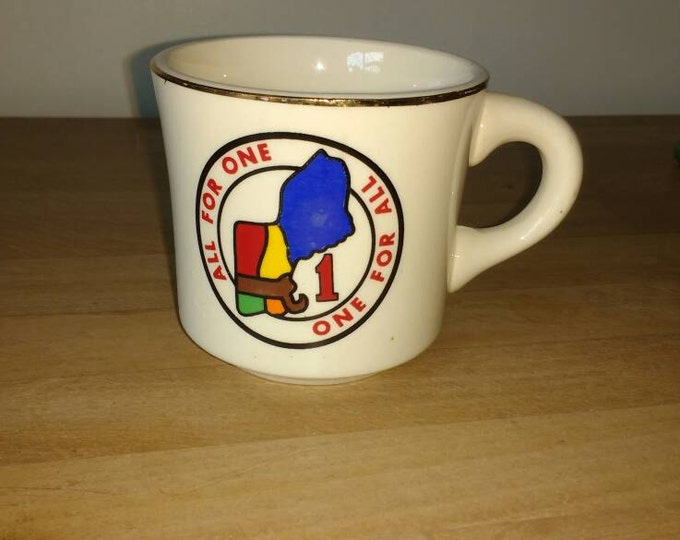 Boy Scouts Of America Mug ~ Boy Scout Collectable Mug All For One Vintage New England Region