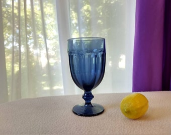 Duratuff Gibraltar Blue Goblet By Libbey Dusty Blue Rock Sharpe Replacement Drinkware Barware Water Goblet Beer Glass