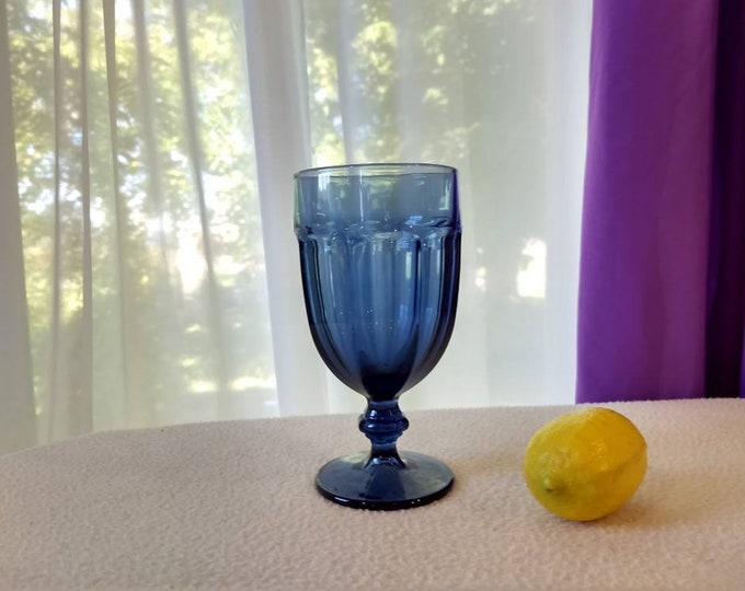 Dusty Blue Duratuff Gibraltar Goblet By Libbey Rock Sharpe Replacement Drinkware