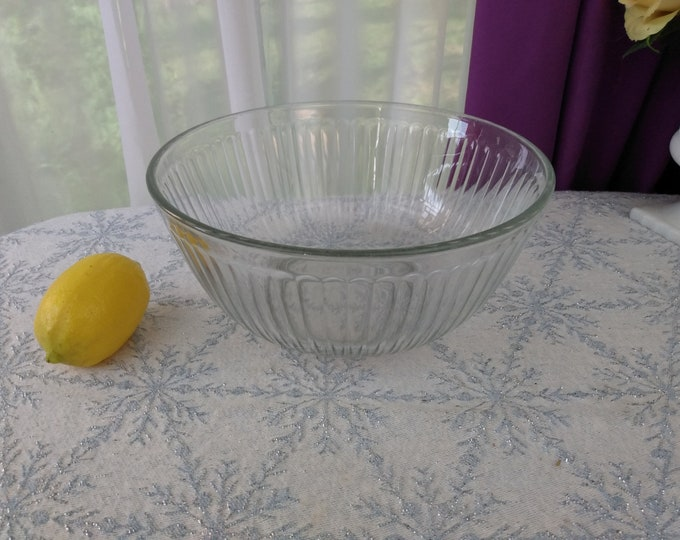Pyrex Clear Ribbed  9 inch Mixing Bowls 10 Cup 2.5 Liter 7403 - S  Large Nesting Bowl Set Replacement Pyrex Visions Corning