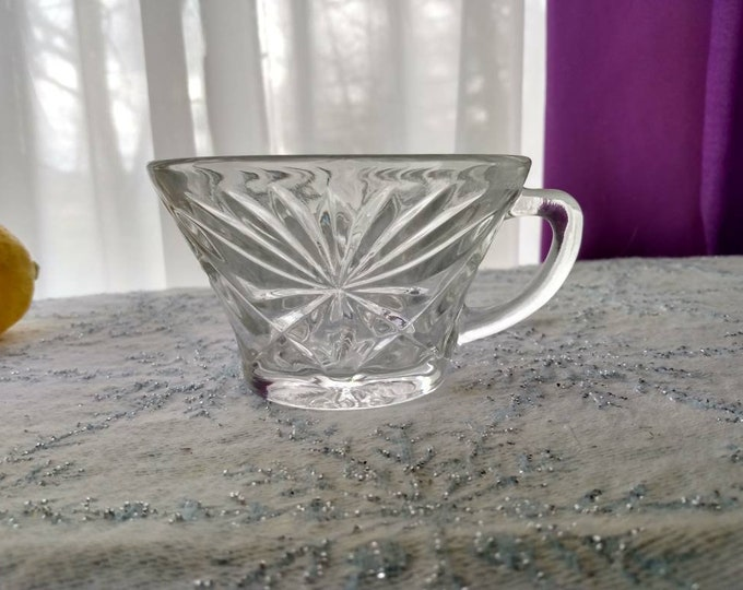 Anchor Hocking Star Of David Punch Bowl Cups Snack Plate Glasses Set Of 4 Replacement Vintage Mid century Wedding