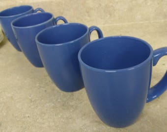Set Of 4 Corelle Medium Snowflake Cornflower Indigo Blue Classic 10 Oz Stoneware Ceramic Mugs Corning Corelle Coordinates