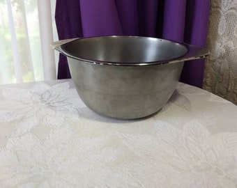 Revere 1801 Stainless Steel Double Boiler 7 Inch Diameter 4 Inch Deep ~ For 3 Quart Pan Mid Century Copper Clad Cookware Vintage Collectible