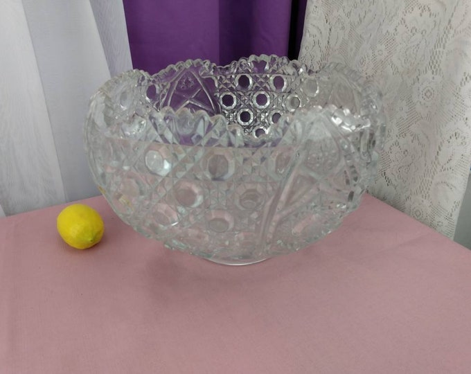 LE Smith Daisy Button Grande Punch Bowl Party Wedding Do It Yourself Affordable Bridal Shower Gift