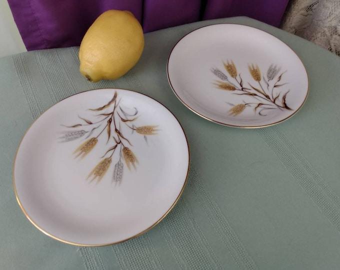 Noritake Wheaton 6 1/4 Inch Bread Plates # 5414 Set Of 2 Fine China Japan Hand Painted Replacement Formal Dinnerware GrandesTreasures