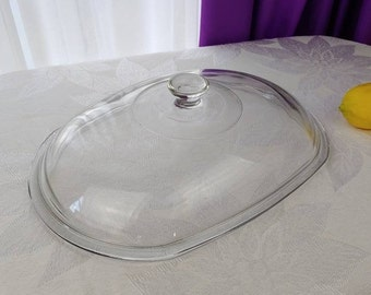 Oval Crock Pot Lid Rival Slow Cooker Oval Replacement Glass Lid Model 3745 3755 3756 3760 3780 Domed Vintage All Glass Discounted