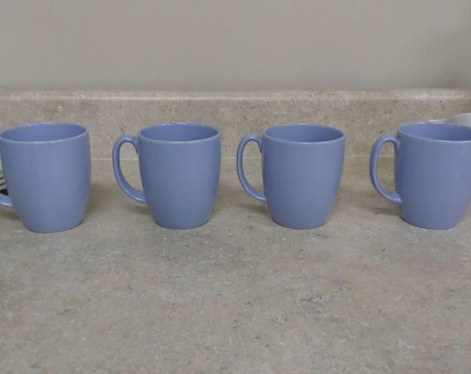 Morning Blue Corelle Stoneware Classic Design 10 Oz. Coffee Mugs Ceramic Cups Corning Light Blue Corelle Coordinates