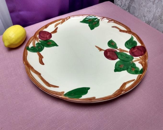 Franciscan Apple 12 Inch Chop Platter Franciscan Pottery Earthenware Ceramic Serving Platter Apple Decor Mid Century Gladding, McBean & Co.