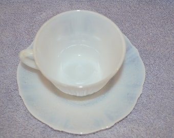 Vintage Mint! American Sweet Heart Mac-Beth Evans Glass Co. Monax Tea Cup With Saucer 1930's