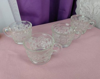 LE Smith Daisy Button Punch Bowl Cups Set Of 4 Wedding Do It Yourself Affordable Bridal Shower Gift