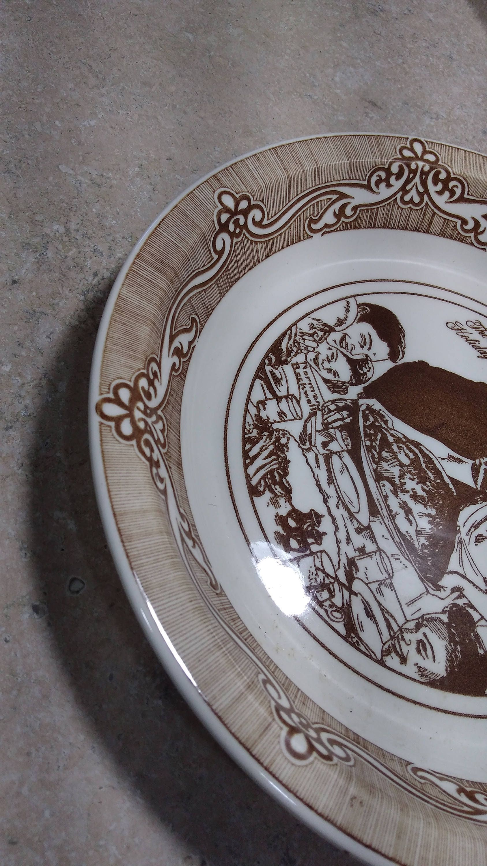 Vintage Norman Rockwell Stoneware Ceramic Pie Plate ~ Freedom From ...