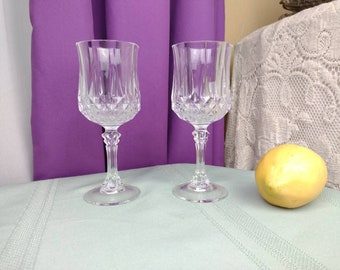 Longchamp Wine Glass By Cristal D' Arques Durand Lead Crystal Stemware Set Of 2 Replacements Replacement Goblet