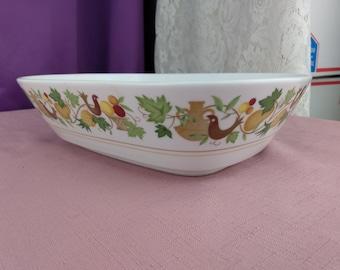 Noritake Progression Homecoming Serving Bowl 9002 VintageVegetable Bowl Harvest Decor Dinnerware Bird Leaves Vegetables Affordable Gift