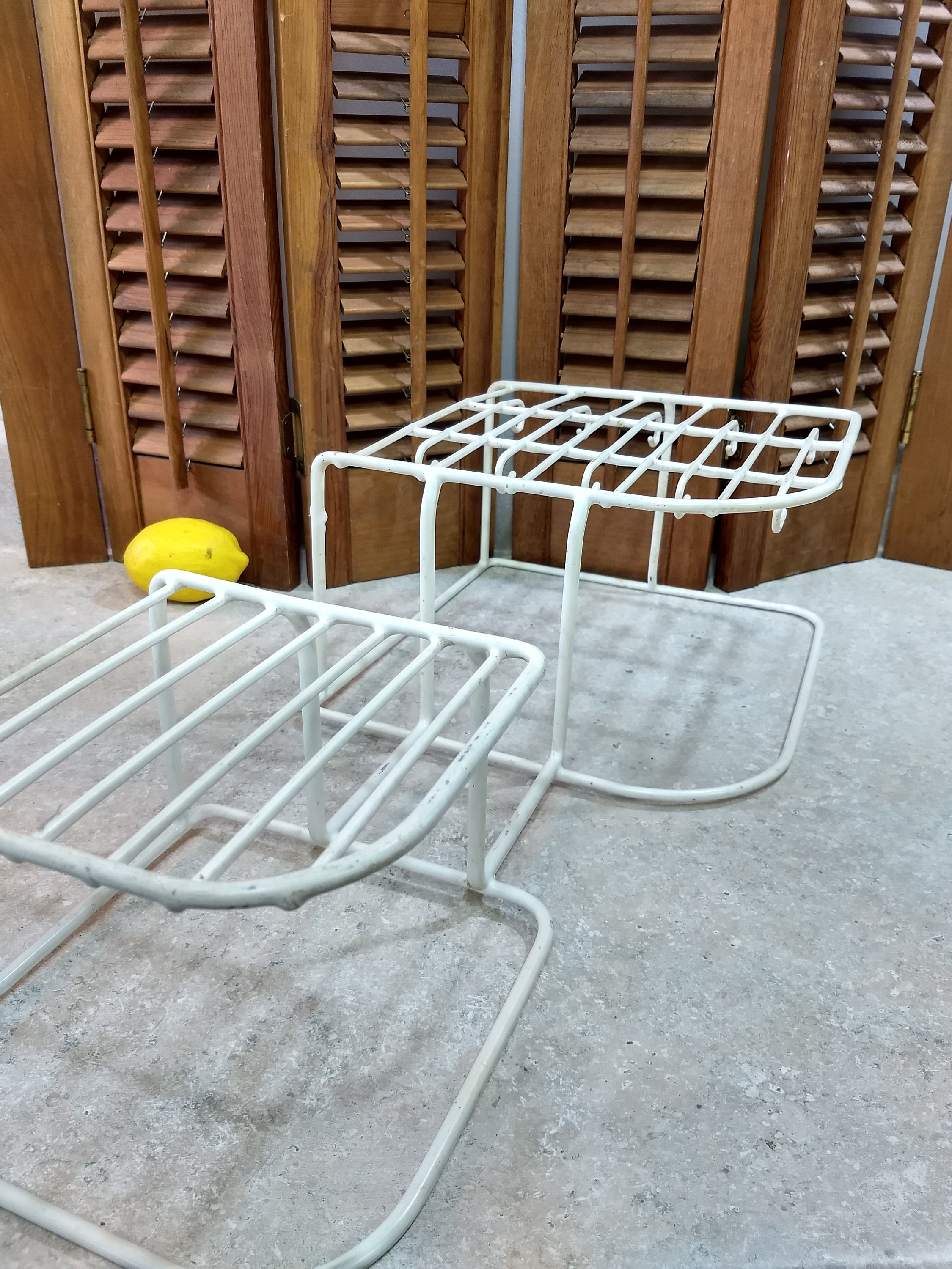 Rubbermaid White Dish RackMid Century Rubber Coated Wire Kitchen ...