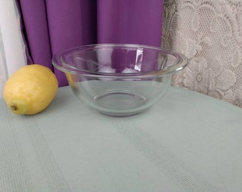 Corning Pyrex Clear Mixing Bowl # 322 1 Liter Nesting Bowl 7 Inches Diameter Replacement Vintage Kitchen GrandesTreasures