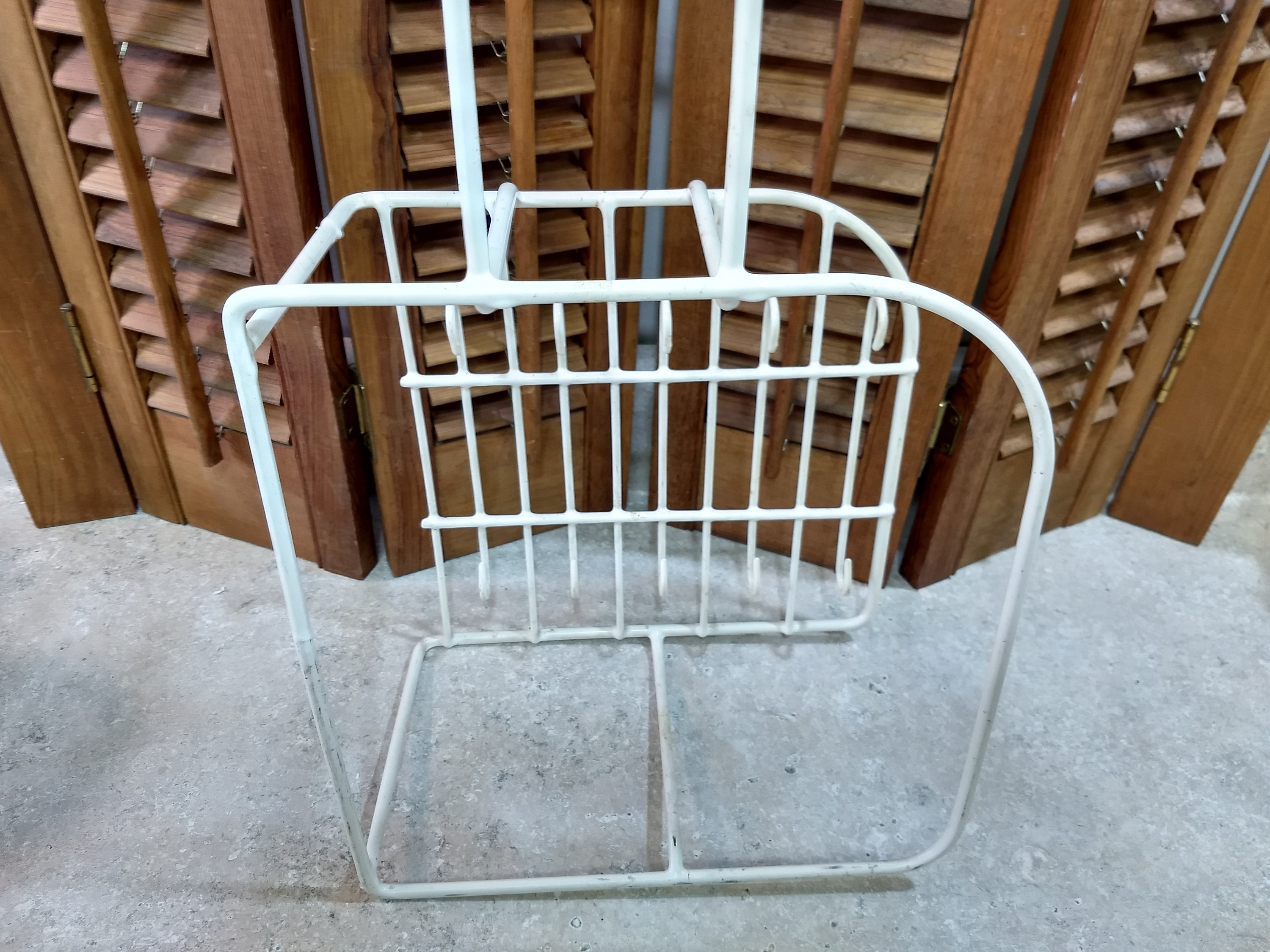 Rubbermaid White Dish Rack Mid Century Rubber Coated Wire Kitchen ...