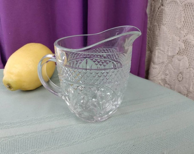 Cristal Darques Antique Clear Creamer Cristal Darques By Arcoroc France Vintage Replacement Milk Pitcher