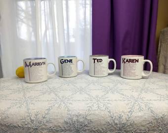 Papel Ceramic Name Mugs Ted Pete Marilyn Karen Affordable Birthday Office Gift