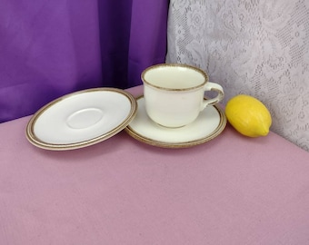 Mikasa Nature's Gallery D8004 Stoneware Rolling Hills Cup With Saucer With Replacement Saucer! Dinnerware Collectible Goes with D8000
