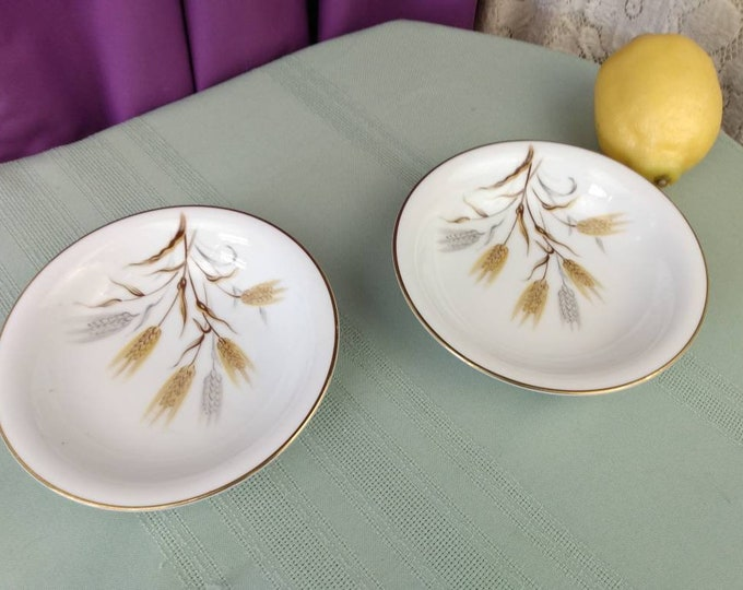 Noritake Wheaton 6 1/4 Inch Berry Bowls # 5414 Set Of 2 Fine China Japan Hand Painted Replacement Formal Dessert Dinnerware GrandesTreasures