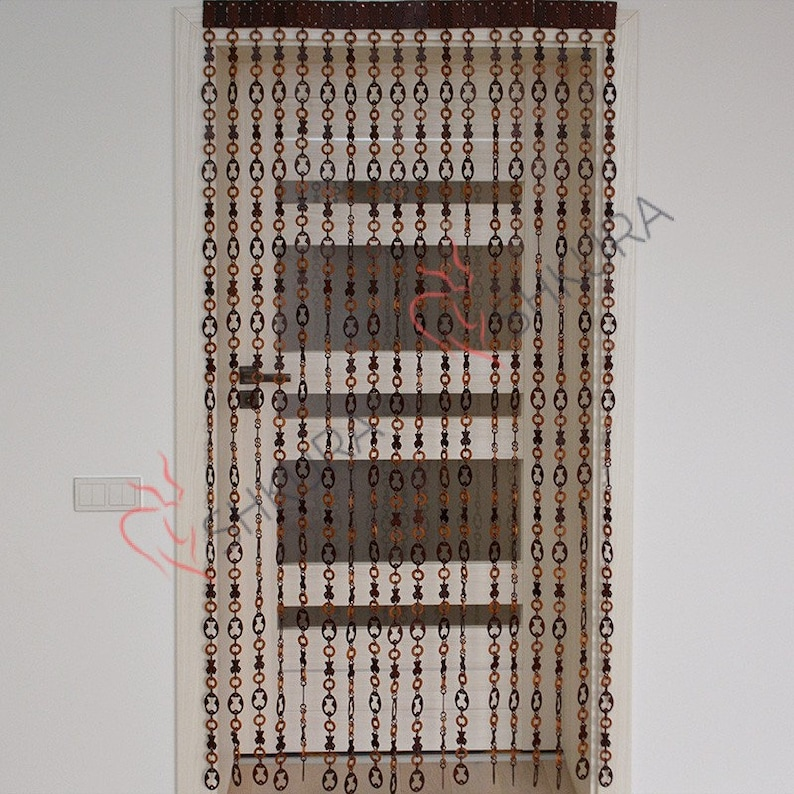 Wooden Door curtain Wood curtain Wood blinds Door Beads Beaded Curtains Beaded Door Curtain Wood Bead Door Curtain Handmade Door curtain