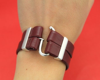 For Flat Leather Cord Up To 5mm  Silver C1100 Qty 1 On Sale Now Open Hook All in One Clasp