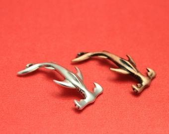 FC0301>>MADE in EUROPE zamak hammerhead shark hook clasp, shark hook clasp (PF12186) Qty1