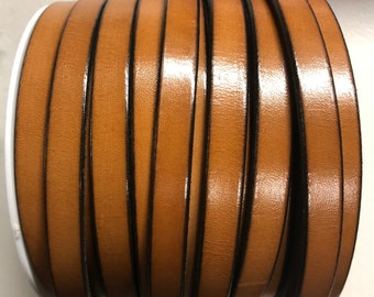 """MADE in EUROPE 24"""" flat leather cord, 10mm leather cord, genuine leather cord(221/10/33)"""