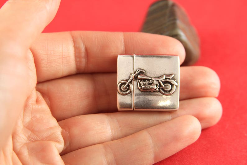 20mm flat cord clasp Qty1 TM20X3MT FC006869MADE in EUROPE zamak magnetic clasp motorcycle magnetic clasp