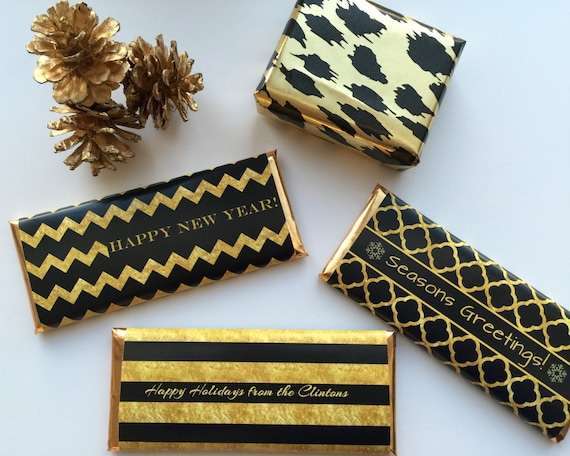 Black And Gold Party Decor Christmas Favours Gold And Black Etsy