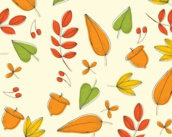 Light Autumn Pattern, Seamless Pattern, Repeat Pattern, Digital Paper, Commercial Use, Digital Download, Autumn Seamless Pattern