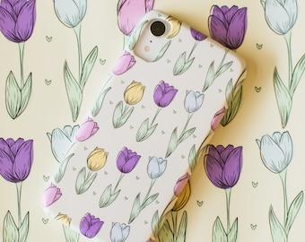Tulip Pattern, Seamless Pattern, Digital Download, Prints