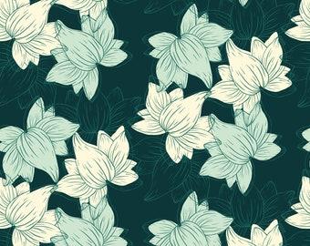 Dark Botanical Pattern, Seamless Pattern, Repeat Pattern, Digital Paper, Commercial Use, Digital Download, Floral Seamless Pattern