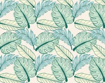Light Monstera Pattern, Seamless Pattern, Repeat Pattern, Digital Paper, Commercial Use, Digital Download, Monstera Seamless Pattern