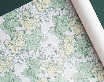 Botanical Pattern, Seamless Pattern, Digital Download, Prints