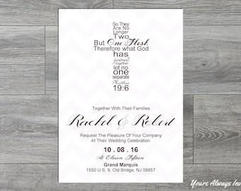 Religious Wedding Invitations Etsy